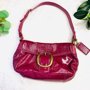 COACH Bleeker Patent Leather Shoulder Bag Berry